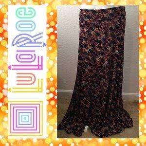 LuLaRoe Rainbow Floral Maxi Skirt